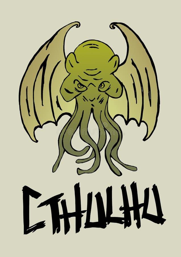 Cthulhu monster royalty free illustration