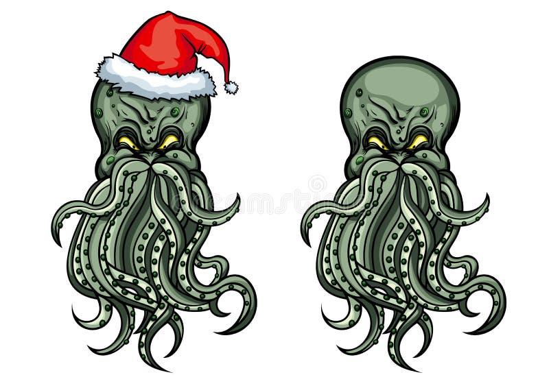 Cthulhu Santa stock illustration
