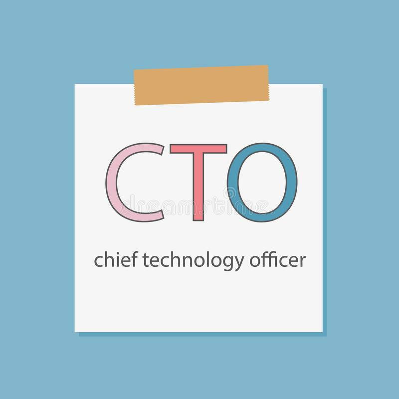 CTO Chief Technology Officer written in notebook paper stock illustration