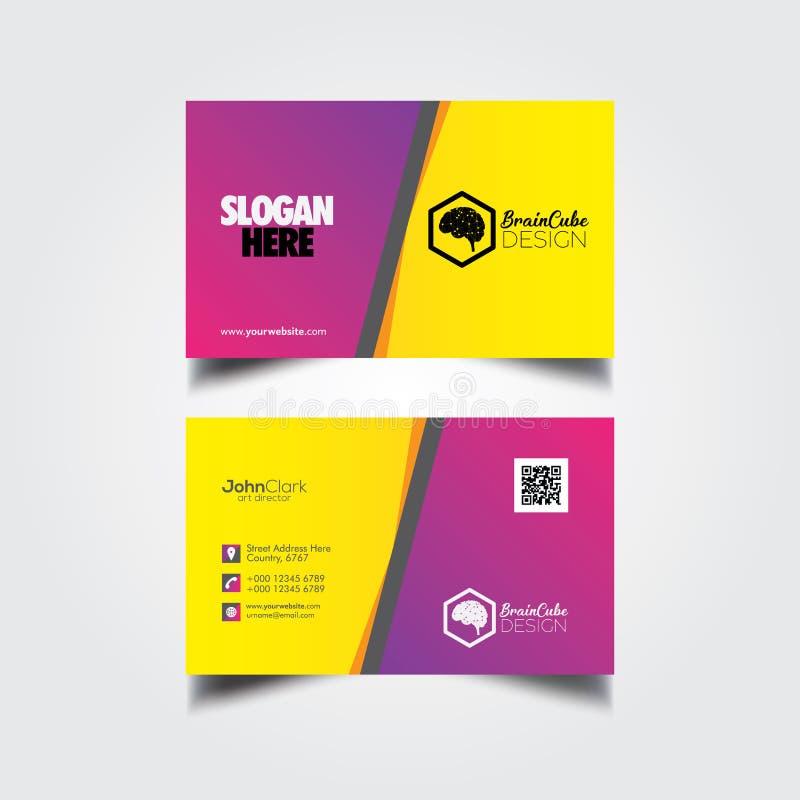 Ctor Modern Creative and Clean Business Card Template. Vector Modern Creative and Clean Business Card Template vector illustration