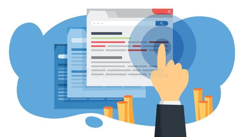 Ctr-akronym för klick till och med hastighet Internetaktion royaltyfri illustrationer
