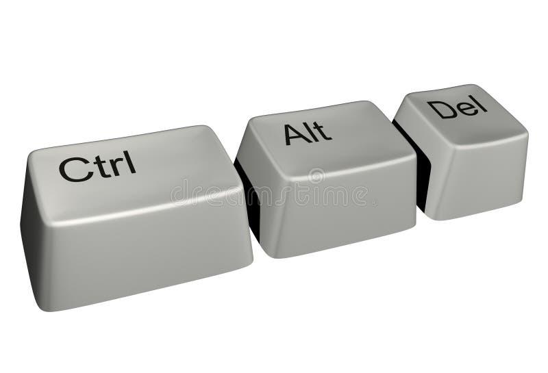 Download Ctrl-alt-del stock illustration. Image of keyboard, begin - 13645689