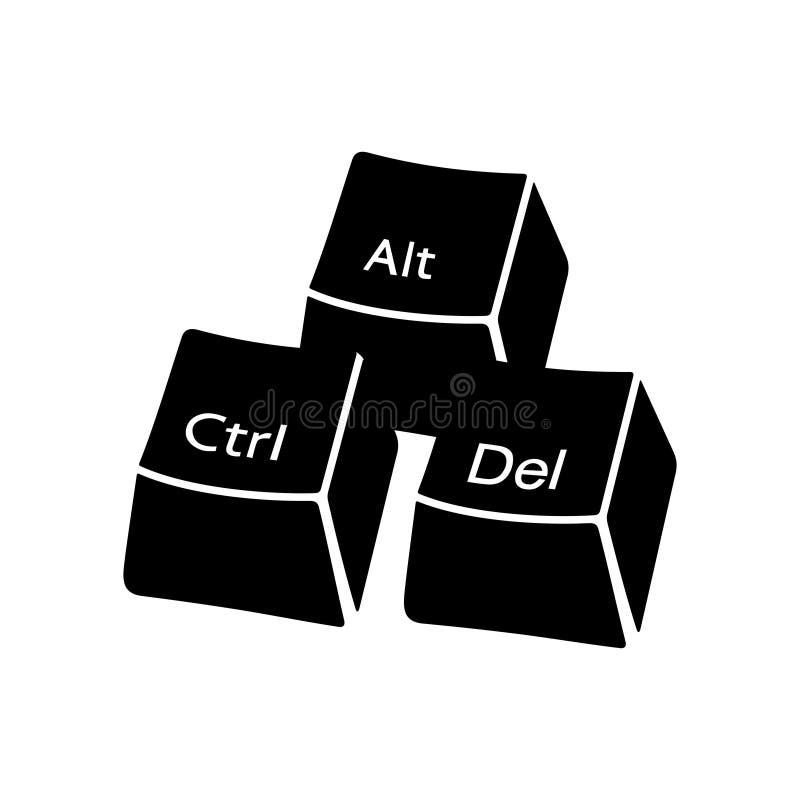 Ctrl alt Del buttons lizenzfreie abbildung