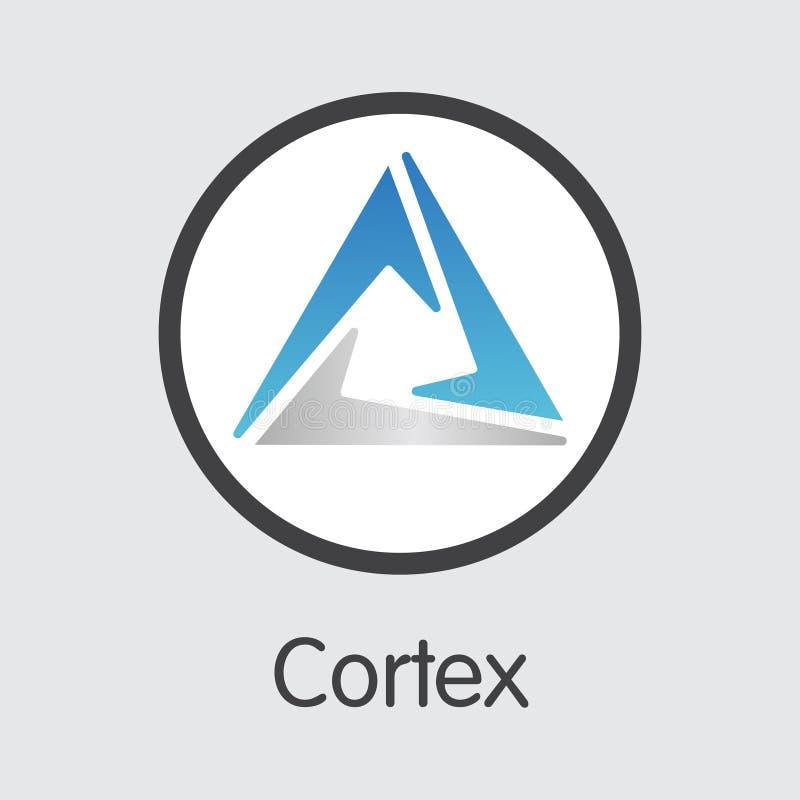CTXC - Cortex Logo Crypto waluty lub rynku emblemat ilustracja wektor