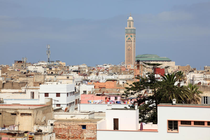 Cty της Καζαμπλάνκα, Μαρόκο στοκ εικόνες