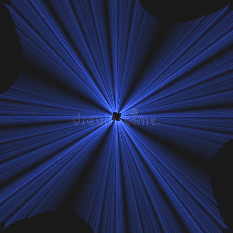 Cuál es cure   Explosión azul de rayos ligeros   Fractal Art Background Wallpaper stock de ilustración