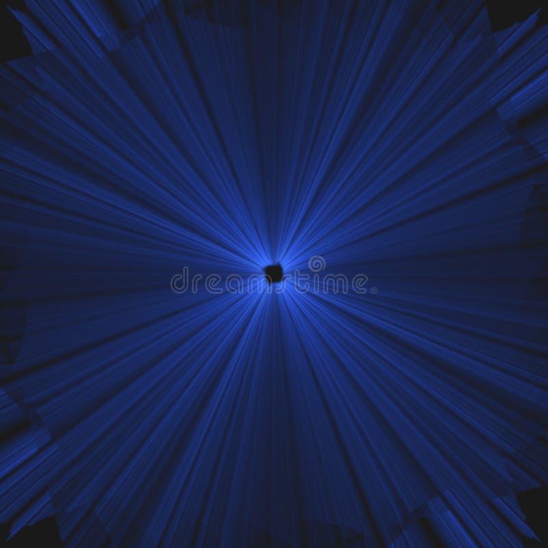 Cuál es cure   Explosión azul de rayos ligeros   Fractal Art Background Wallpaper ilustración del vector