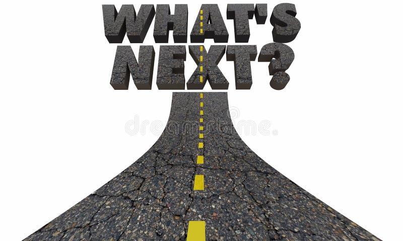 Cuál es curso siguiente del futuro del camino de la pregunta ilustración del vector