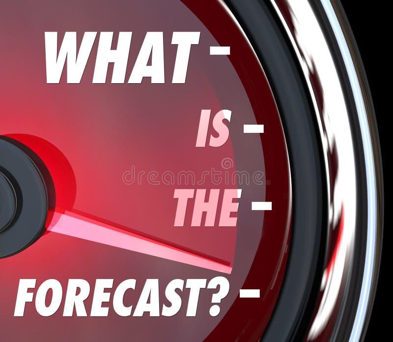 Cuál es el crecimiento de medición llano del indicador del velocímetro del pronóstico ilustración del vector