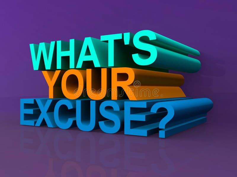 Cuál es su excusa libre illustration