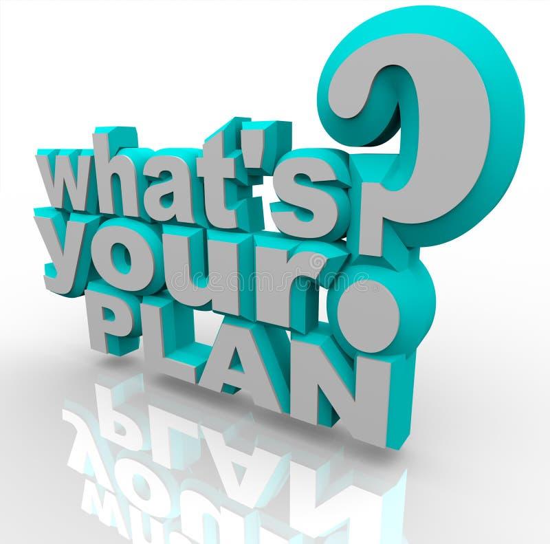 Cuál es su plan - éxito listo de las hojas de operación (planning) ilustración del vector