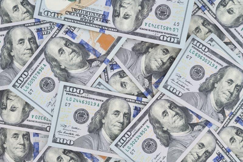 Cuánto Benji usted ve, nuevo cientos lo de los billetes de banco del dólar fotos de archivo