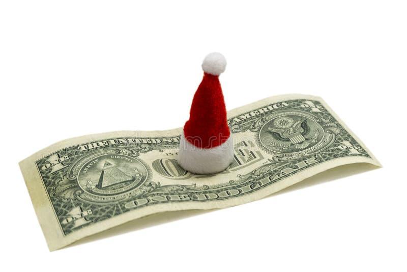 Cuánto es la celebración del Año Nuevo en América El concepto de costes financieros para la Navidad Sombrero rojo del recuerdo de imagenes de archivo