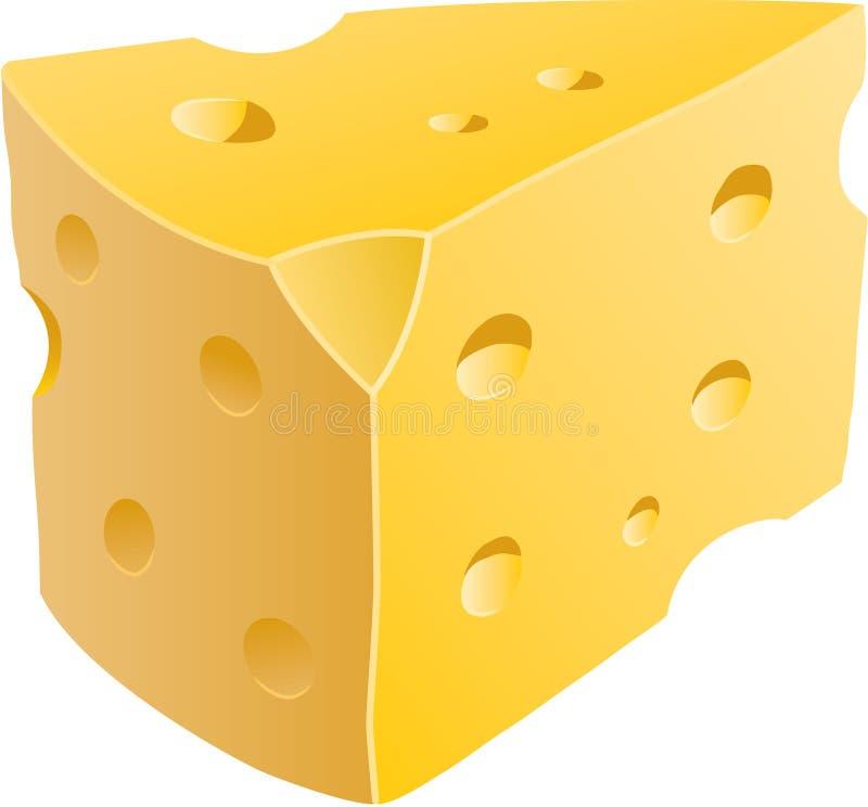 Cuña del queso stock de ilustración