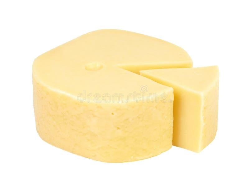 Cuña grande del queso cortado. imagenes de archivo