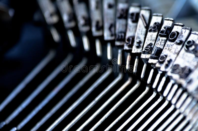 CU old fashioned typewriter. Vintage writer concept royalty free stock images