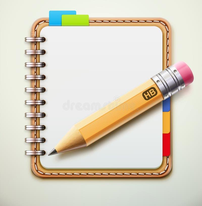 Cuaderno stock de ilustración