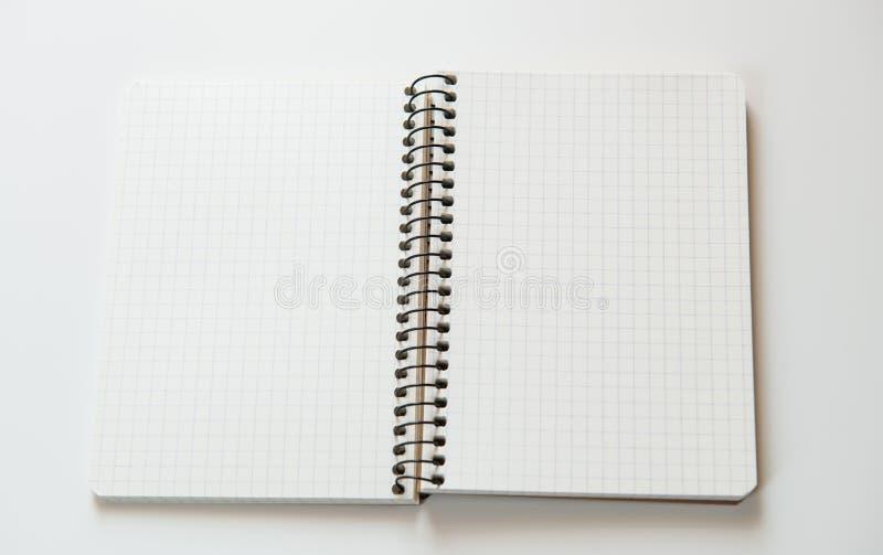 Cuaderno abierto foto de archivo