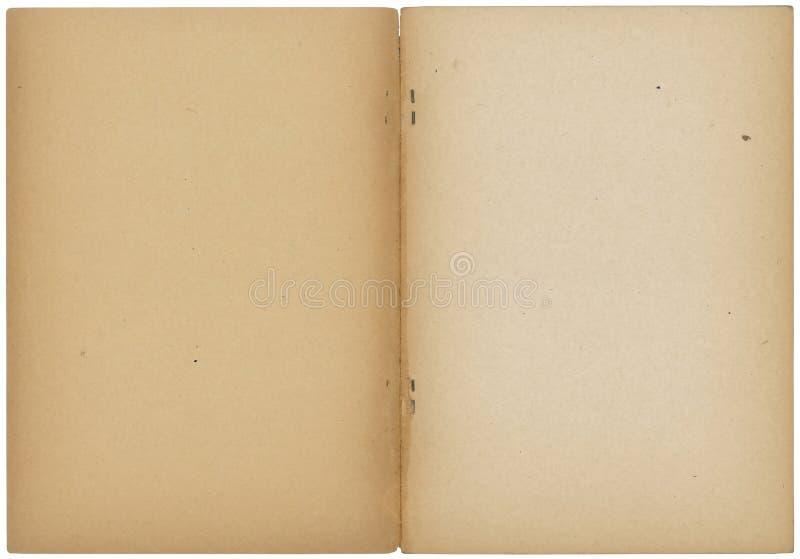 Cuaderno abierto de la vendimia imágenes de archivo libres de regalías