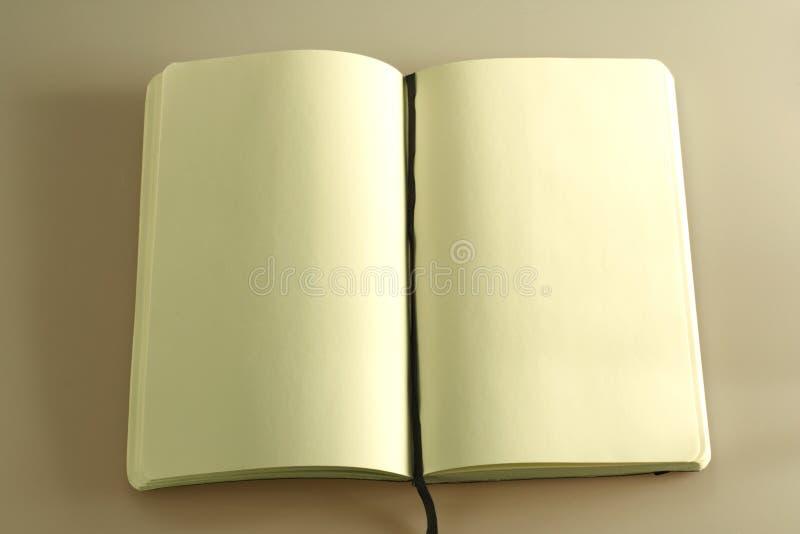 Cuaderno abierto del asunto fotografía de archivo
