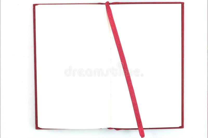 cuaderno abierto del rojo imágenes de archivo libres de regalías