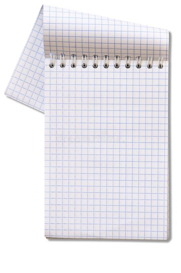 Cuaderno aislado imagen de archivo