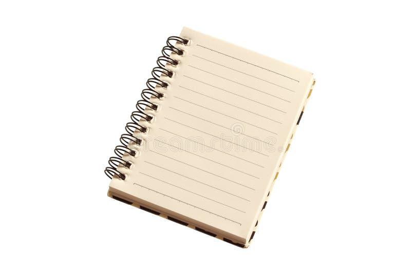 Cuaderno aislado en el fondo blanco fotografía de archivo libre de regalías