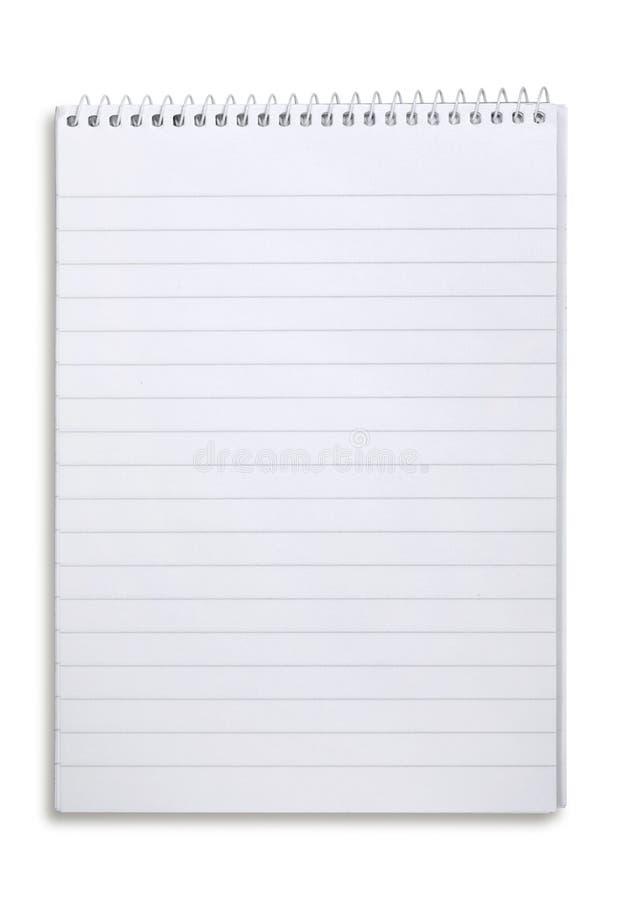 Cuaderno alineado espiral fotos de archivo