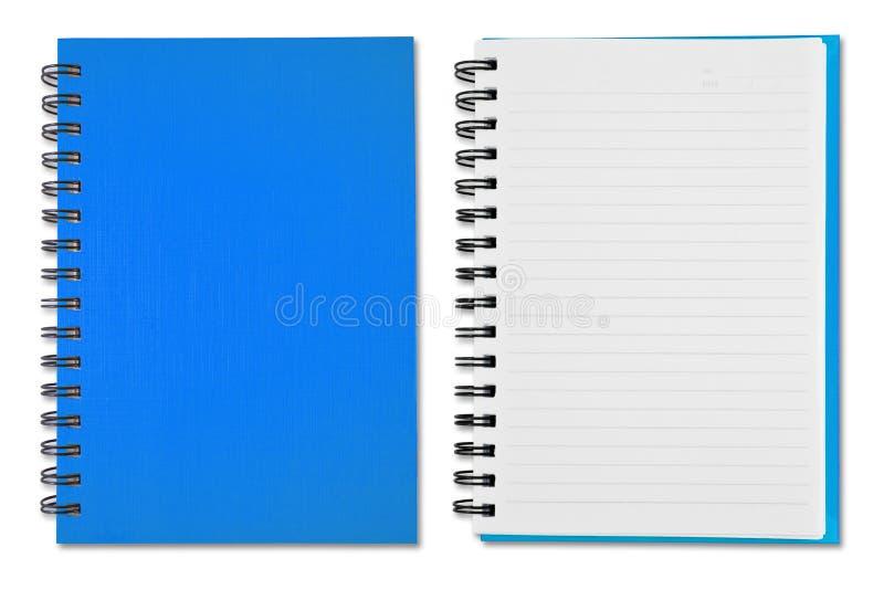 Cuaderno azul imagen de archivo libre de regalías