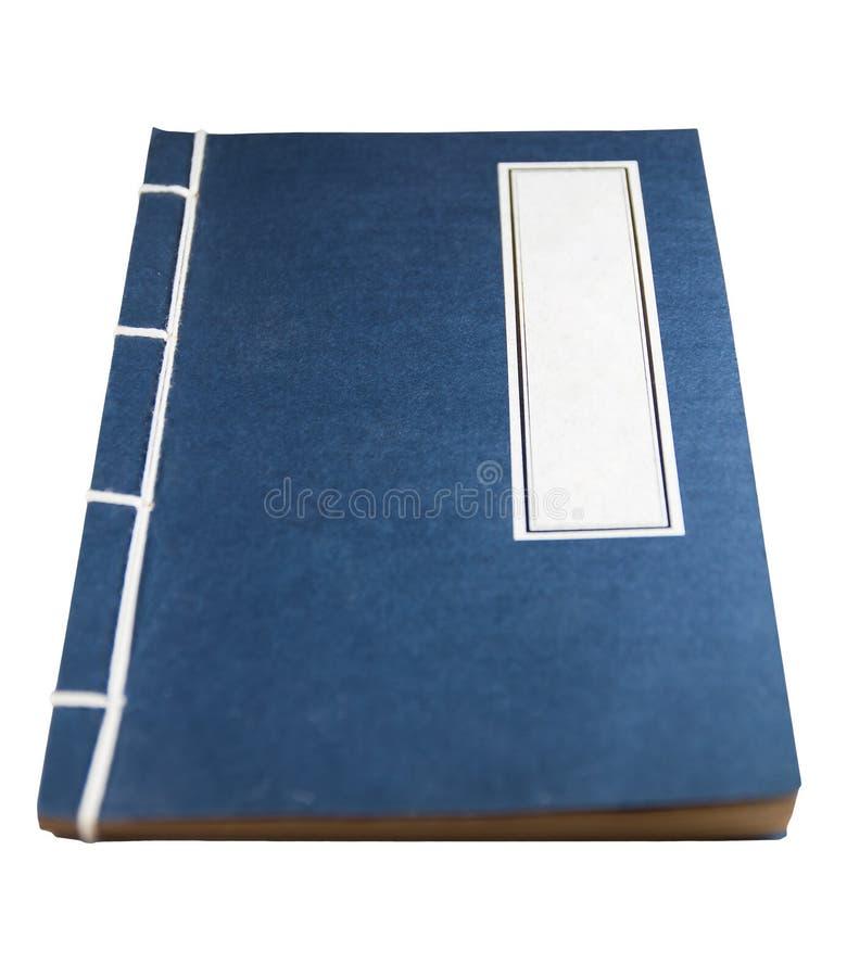 Cuaderno azul del Chino-estilo imagenes de archivo