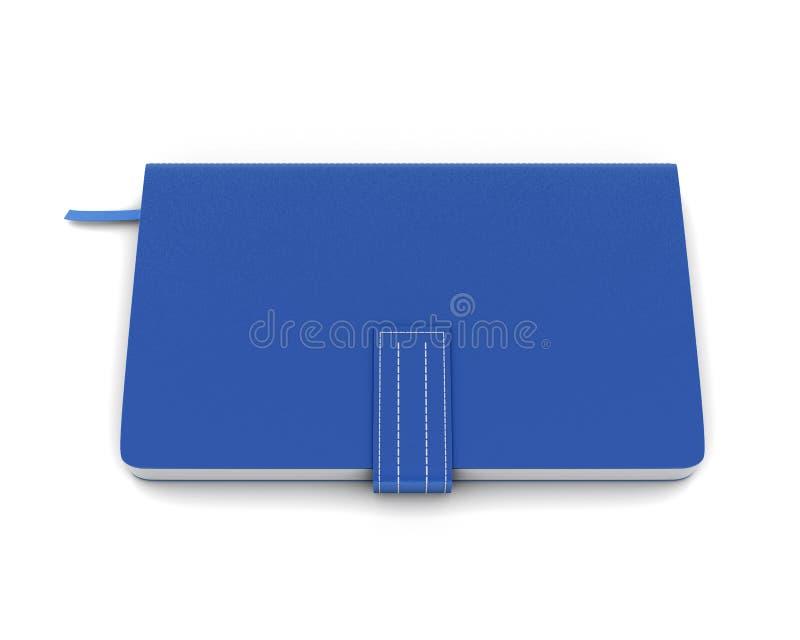 Cuaderno azul para las notas stock de ilustración