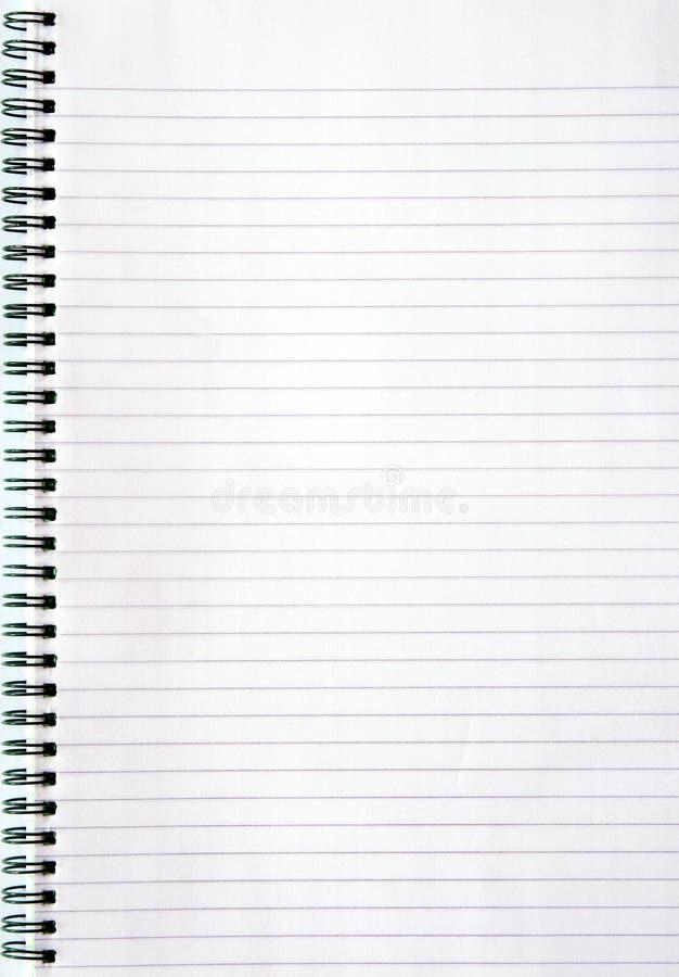 Cuaderno con el papel alineado foto de archivo libre de regalías