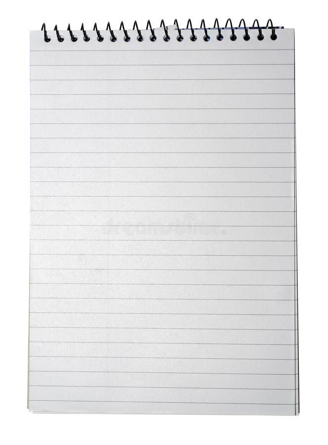 Cuaderno con las paginaciones alineadas fotos de archivo libres de regalías