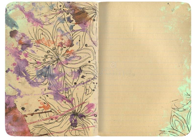 Cuaderno con un chapoteo foto de archivo libre de regalías