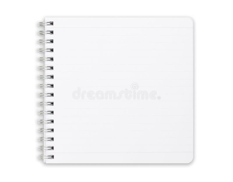 Cuaderno cuadrado aislado en blanco. foto de archivo libre de regalías