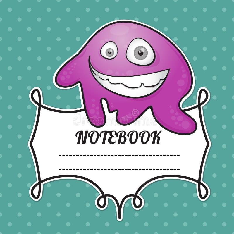 Cuaderno de la cubierta ilustración del vector
