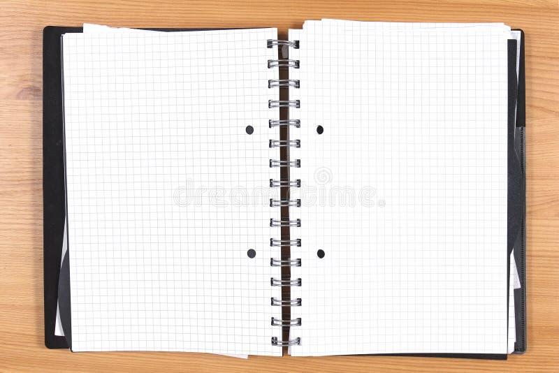 Cuaderno de las páginas en blanco imagen de archivo