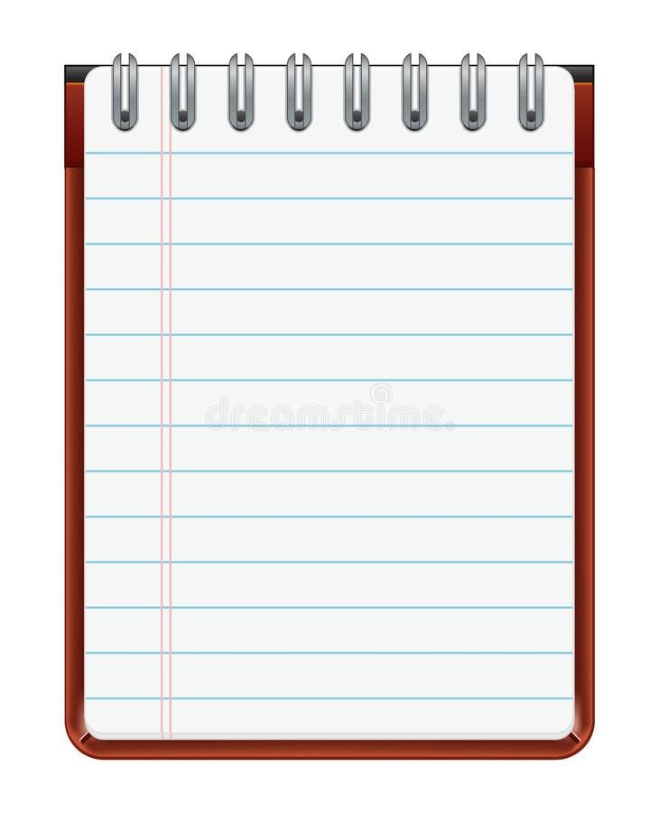 Cuaderno de notas libre illustration