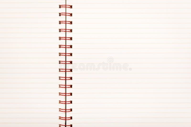 Cuaderno de papel alineado imagen de archivo libre de regalías
