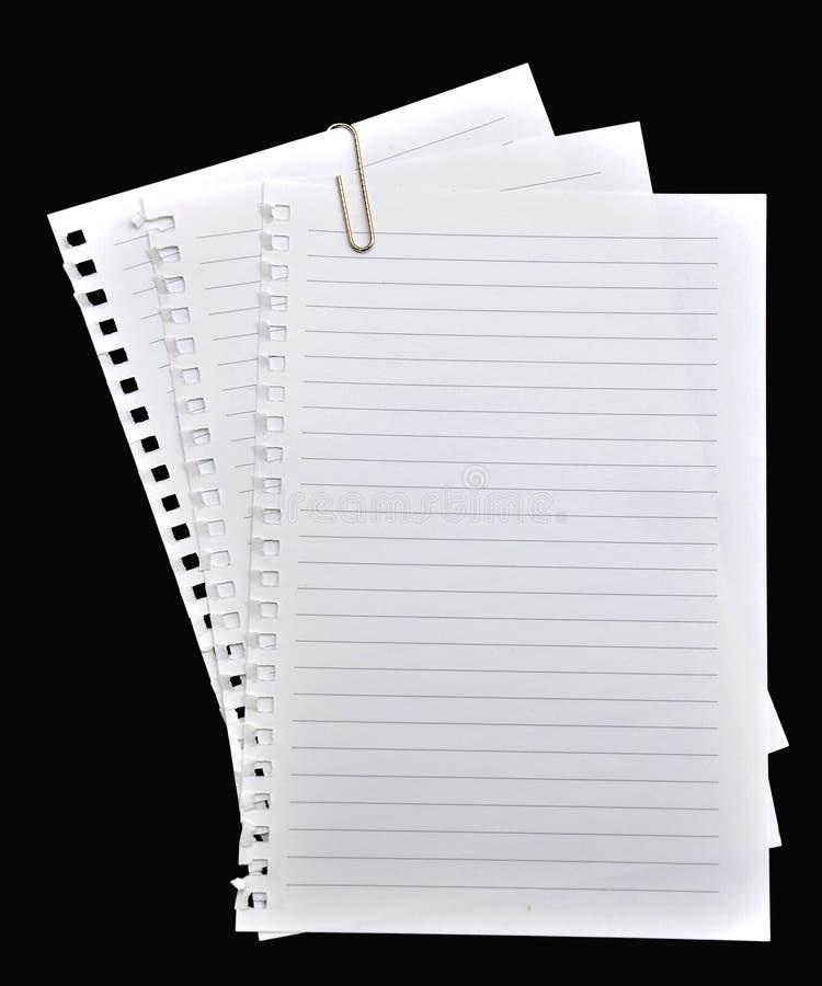 Cuaderno de papel de la paginación imagen de archivo
