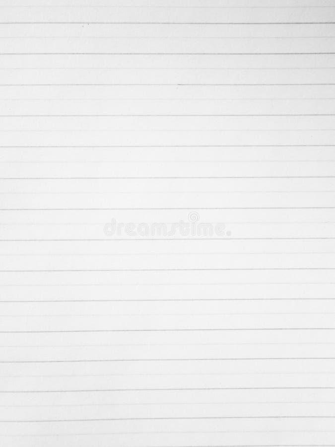 Cuaderno de papel de la paginación foto de archivo libre de regalías