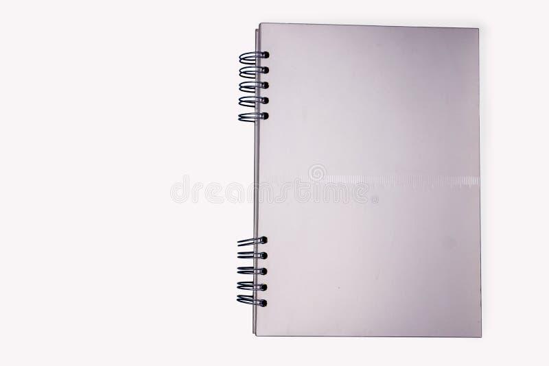 Cuaderno de plata fotografía de archivo