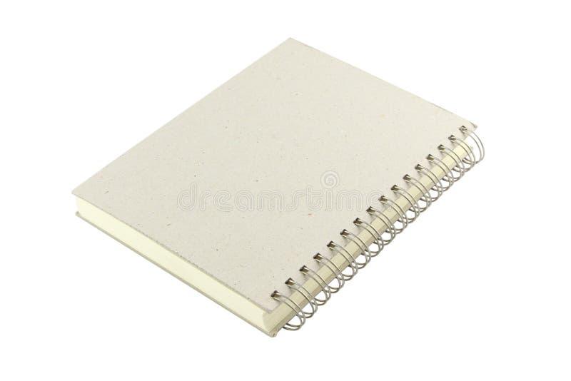 Cuaderno del lazo del anillo de cubierta del grano imagen de archivo libre de regalías