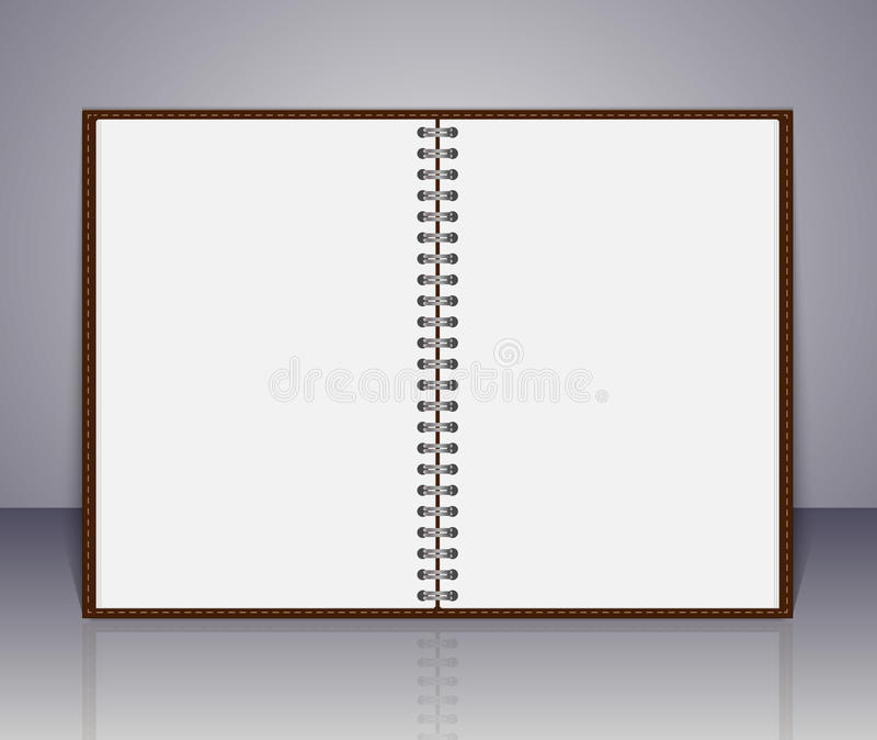 Cuaderno del vector y nota en blanco abiertos del recordatorio libre illustration