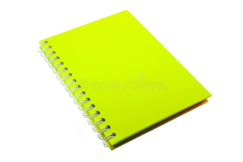 Cuaderno del verde lima foto de archivo