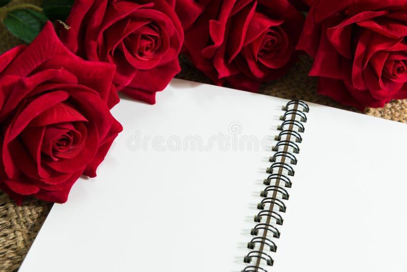 Cuaderno diario fotografía de archivo