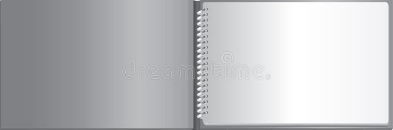 Cuaderno en blanco blanco ilustración del vector