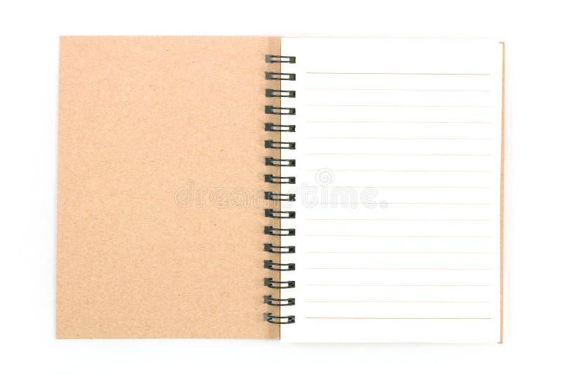 Cuaderno en el fondo blanco foto de archivo libre de regalías