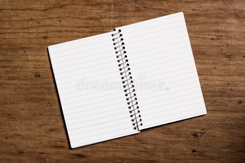 Cuaderno en el vector de madera. imagen de archivo libre de regalías