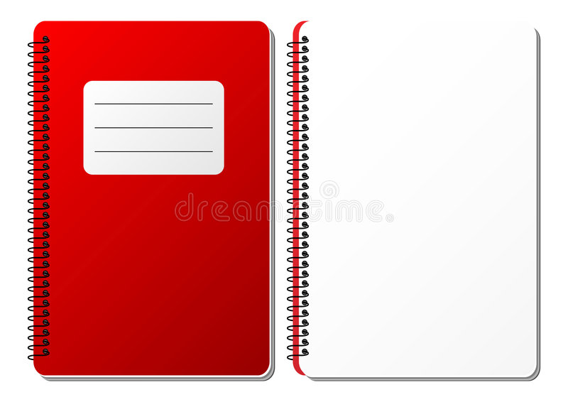Cuaderno espiral ilustración del vector
